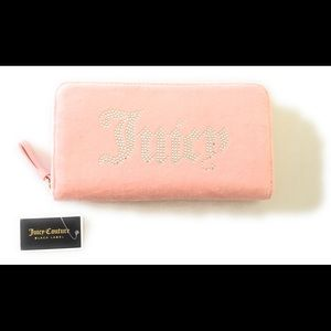 JUICY COUTURE BLACK LABEL Wallet LUXE VELOUR Pink